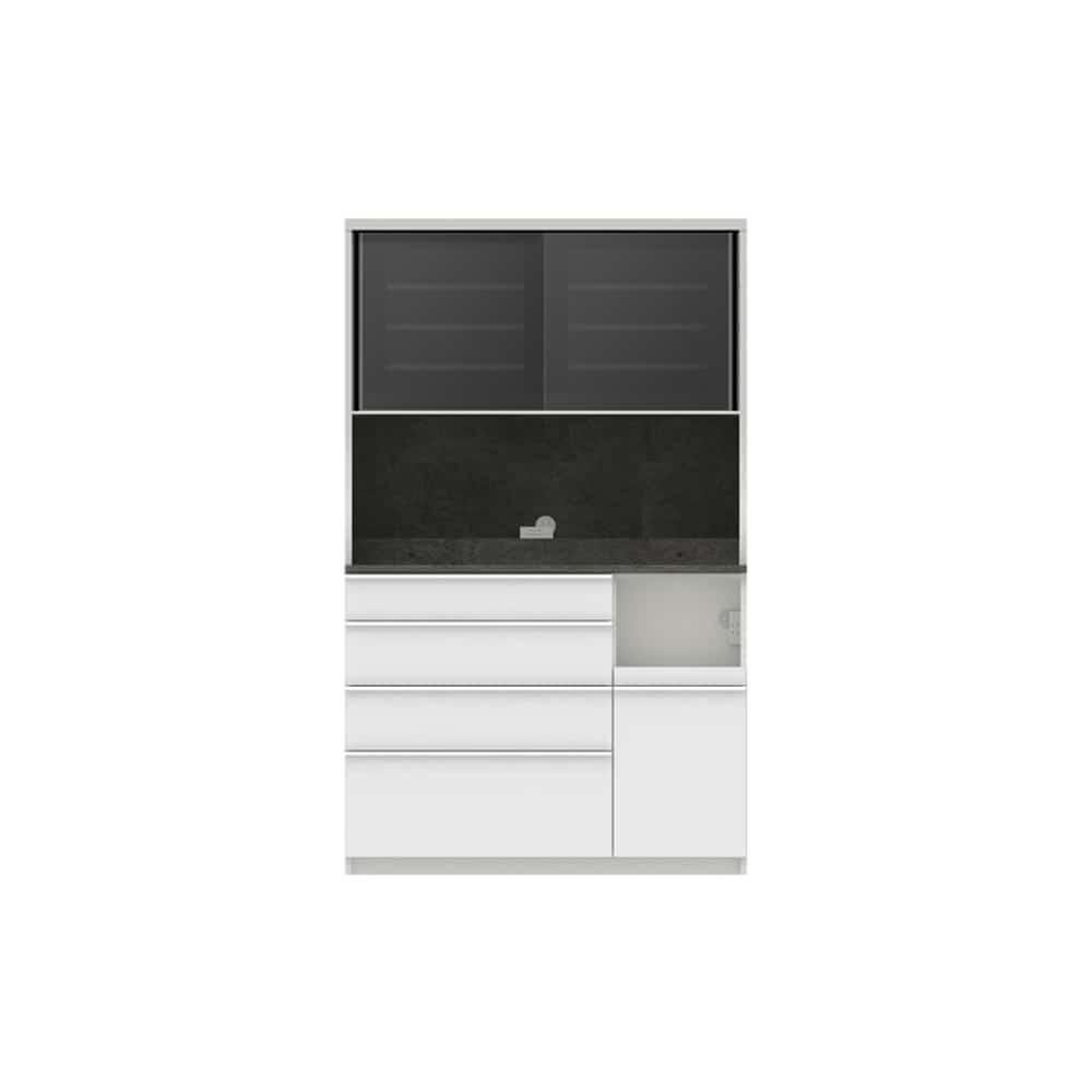 パモウナ ダイニングボード ディスペンサ SQR−S1200R SG/パールホワイト:パントリーの収納術を意識した商品