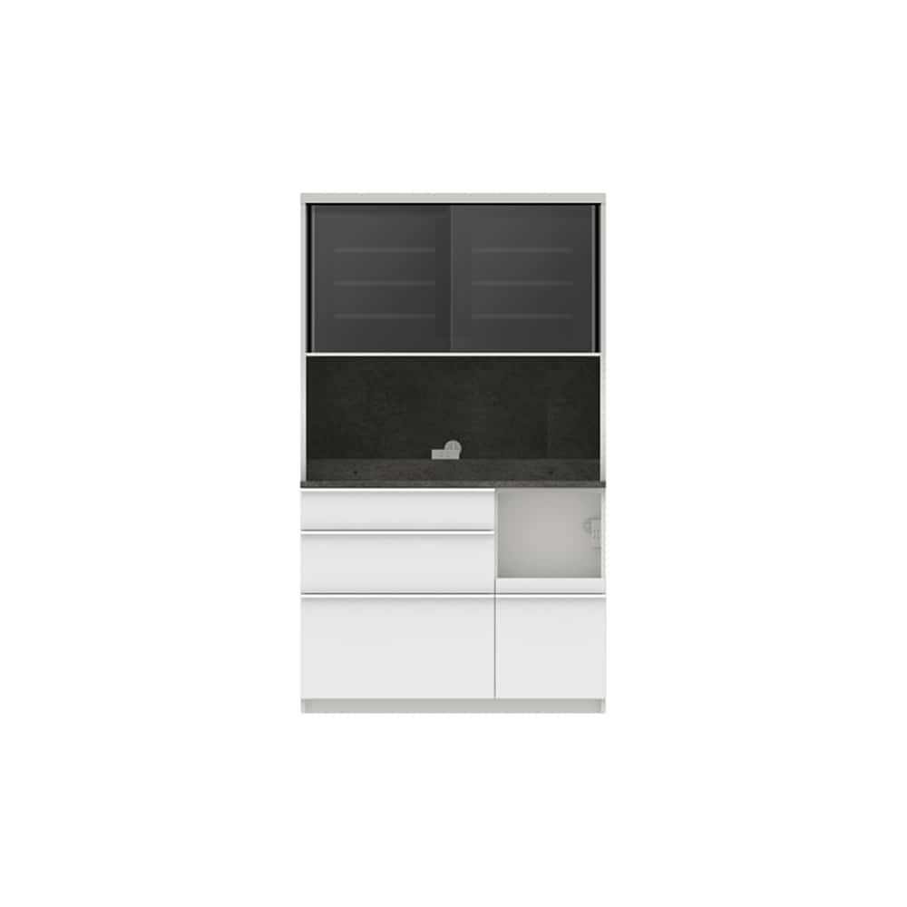 パモウナ ダイニングボード ディスペンサ SMR−S1100R SG/パールホワイト:パントリーの収納術を意識した商品