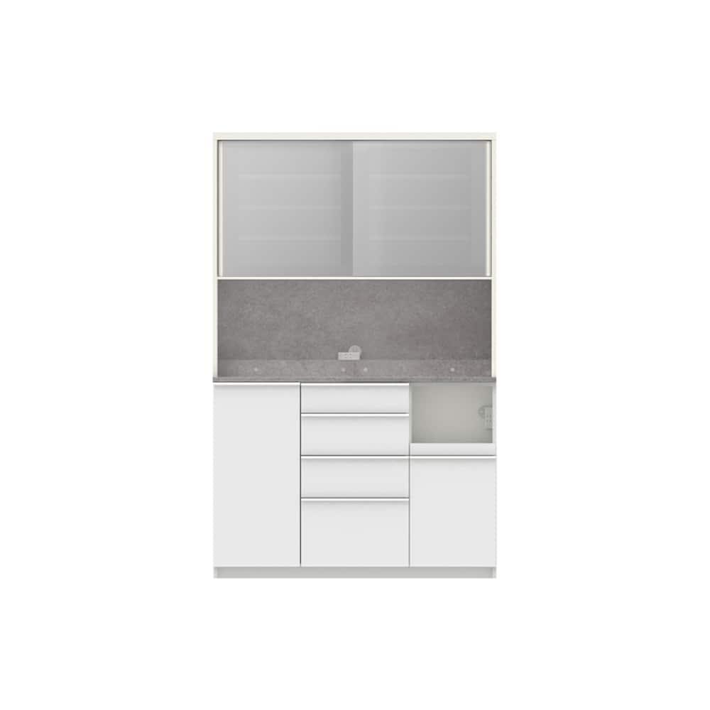 パモウナ ダイニングボード ディスペンサ RQR−S1300R WG/パールホワイト:パントリーの収納術を意識した商品