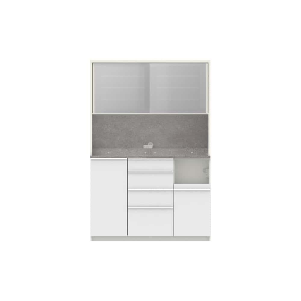パモウナ ダイニングボード ディスペンサ RMR−S1300R WG/パールホワイト:パントリーの収納術を意識した商品