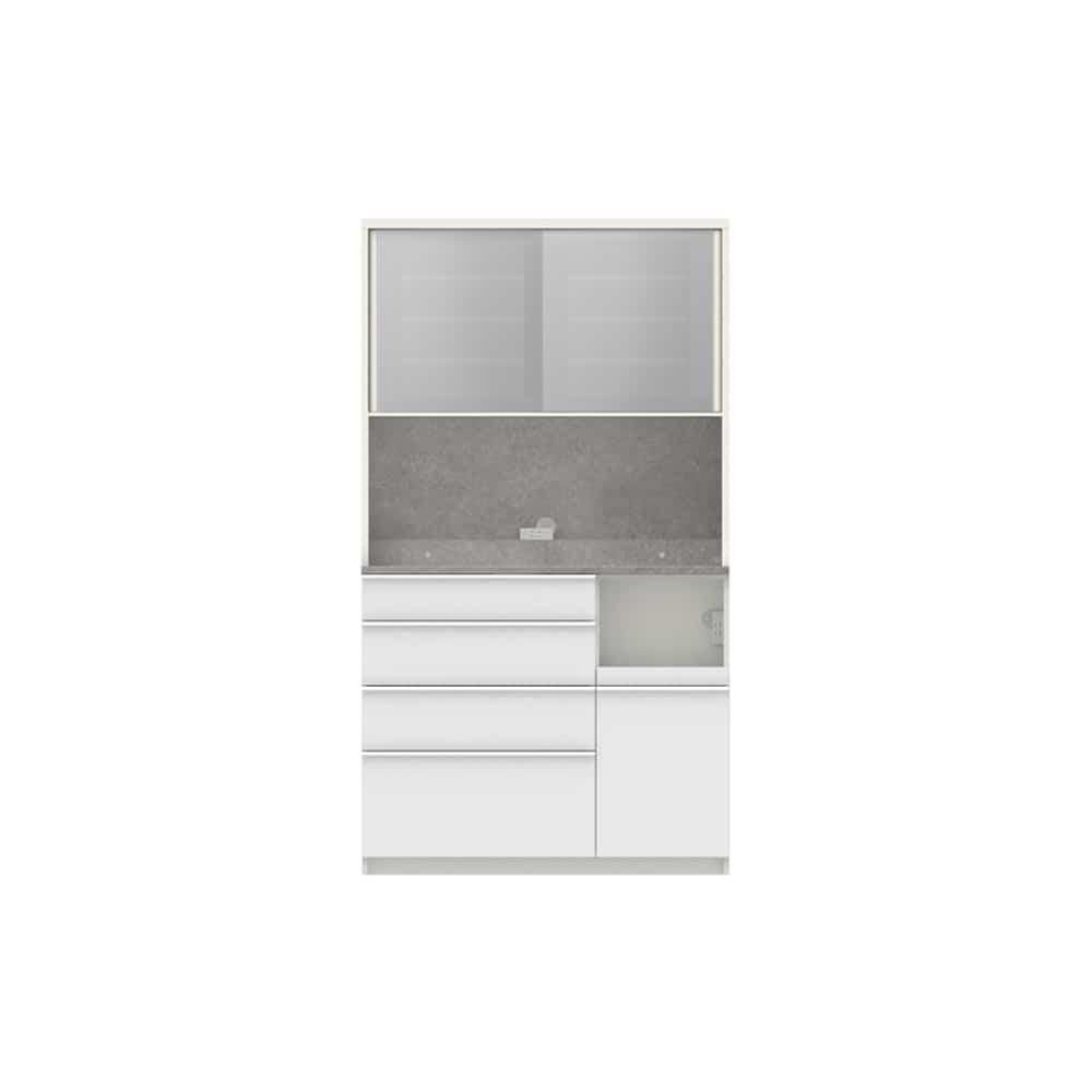 パモウナ ダイニングボード ディスペンサ RMR−S1100R WG/パールホワイト:パントリーの収納術を意識した商品