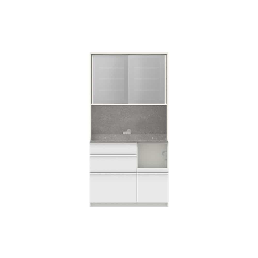 パモウナ ダイニングボード ディスペンサ SQR−S1000R WG/パールホワイト:パントリーの収納術を意識した商品