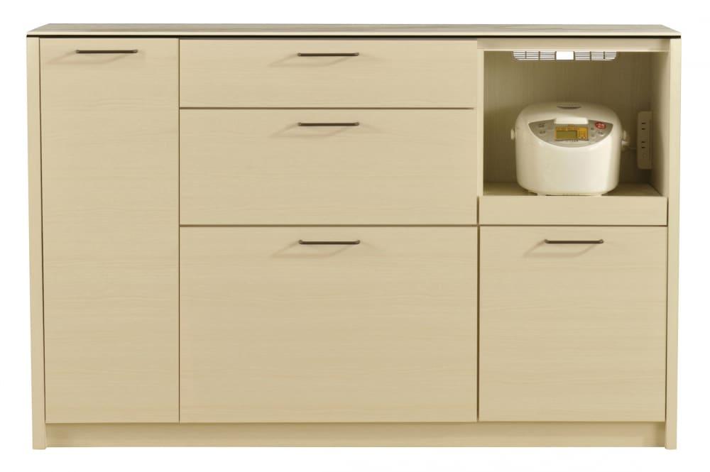 カウンター フェリス140カウンターWH木目・ホワイトクオーツ:熱・キズ・汚れに強いセラミックを天板に使用したカウンターです