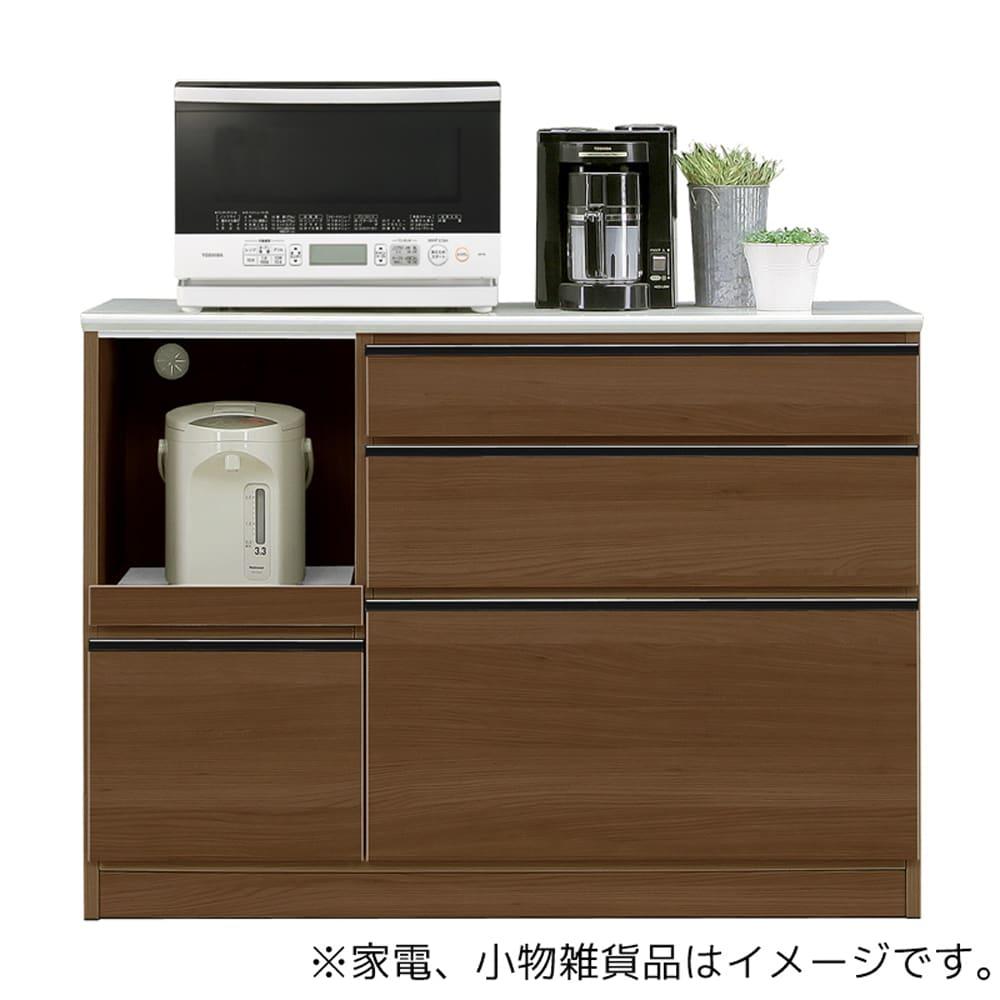 カウンター Nプレッソ120カウンター(WN木目):天板はメラミンポストフォームでキズに強くお掃除も簡単です
