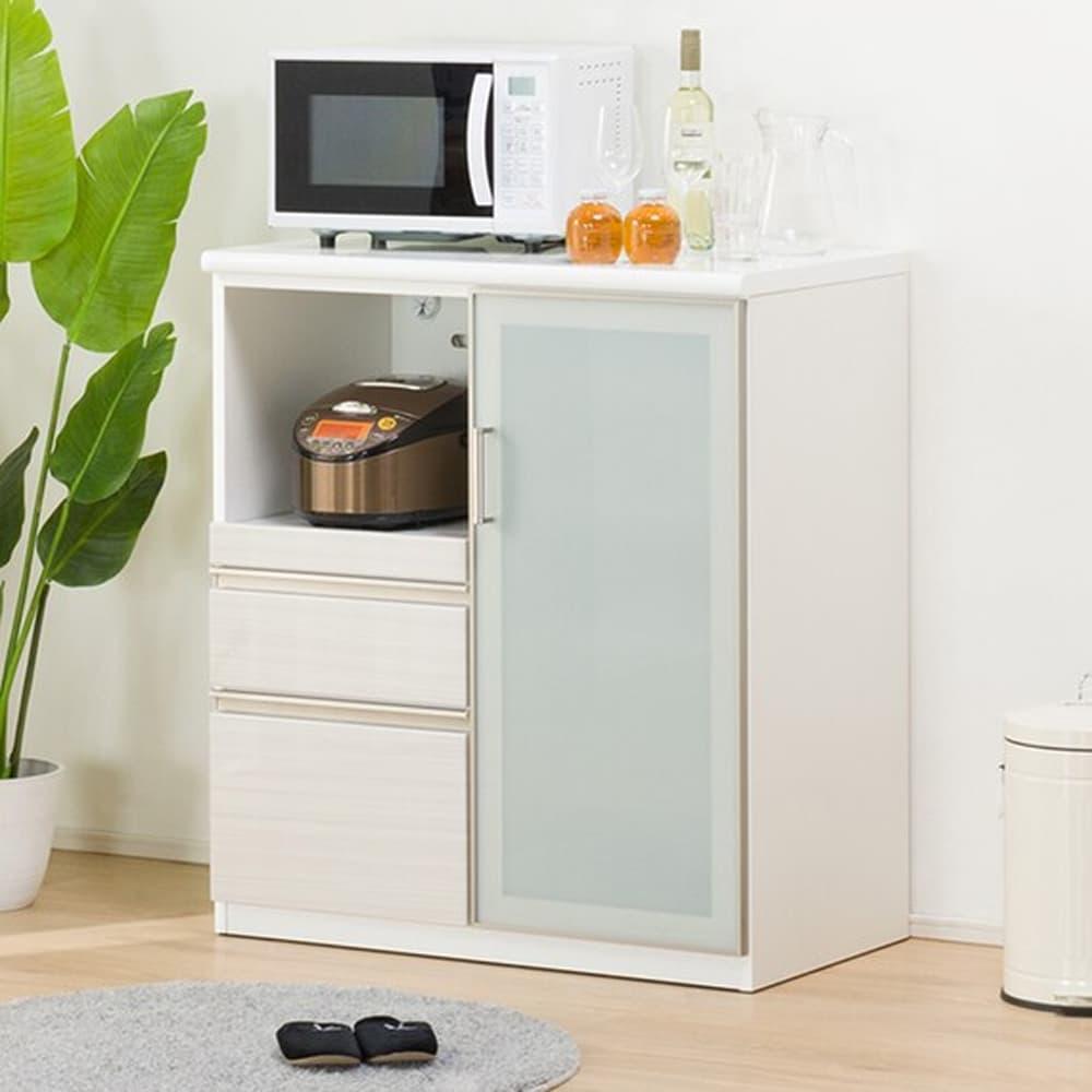 【ニトリ】 カウンター Nポスティア 90 WH ホワイト:カウンター上で作業がしやすいハイカウンタータイプ。