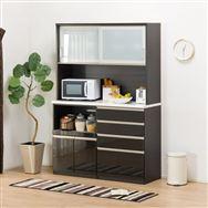 【ニトリ】 キッチンボード Nポスティア 140KB BK ブラック