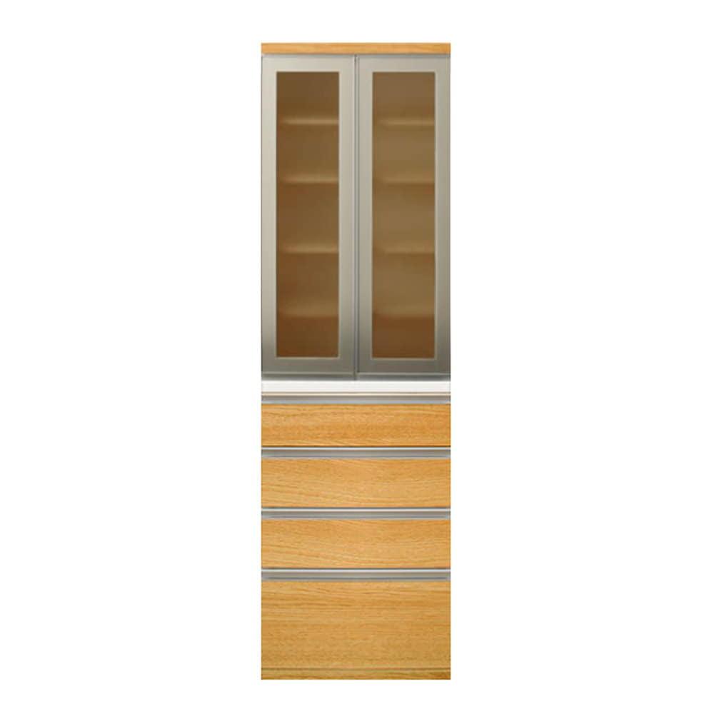 【ニトリ】 食器棚 リガーレ 幅60 LBR 50GH−60DB/H50−60C:キッチンボード リガーレ