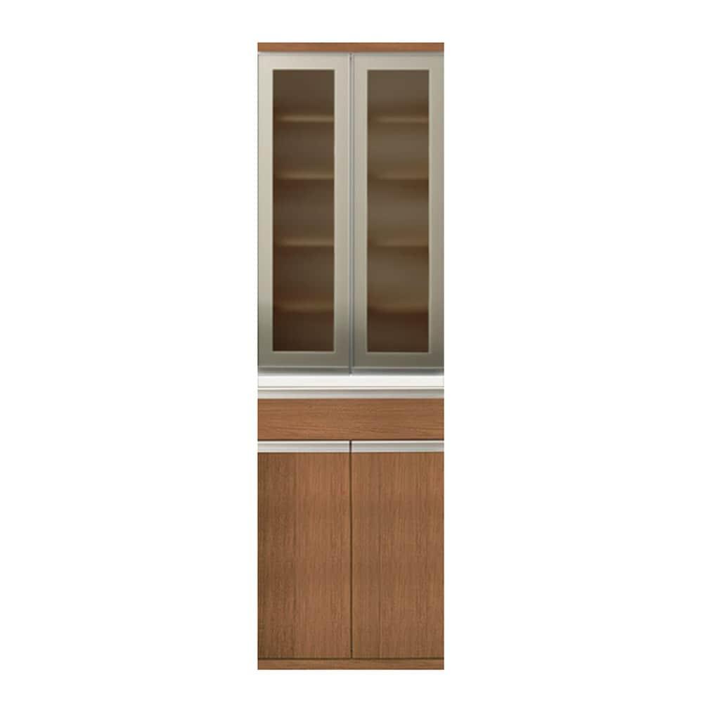 【ニトリ】 食器棚 リガーレ 幅60 MBR 50GH−60DB/H50−60T:キッチンボード リガーレ