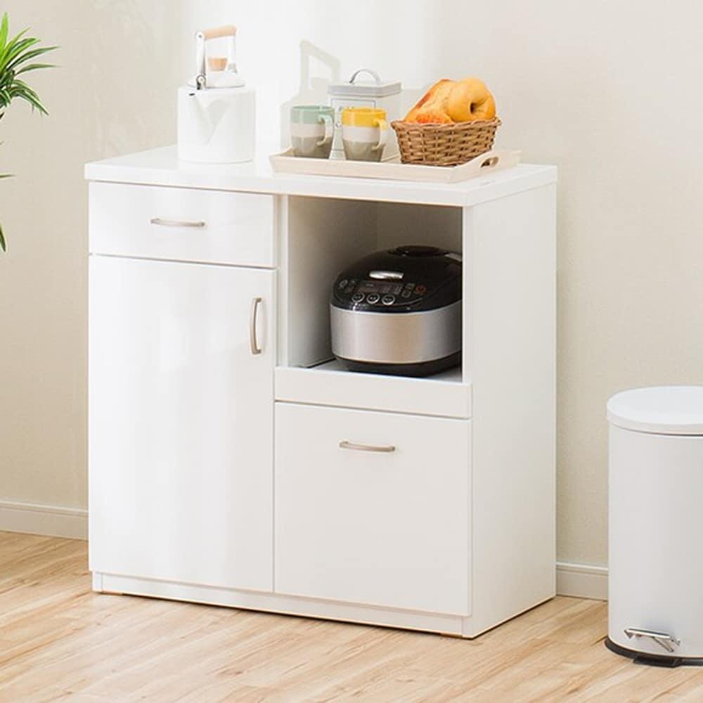 【ニトリ】 カウンター コパン 80CT−S WH ホワイト:どんなお部屋にもあわせやすい。安心の耐震機能も充実。
