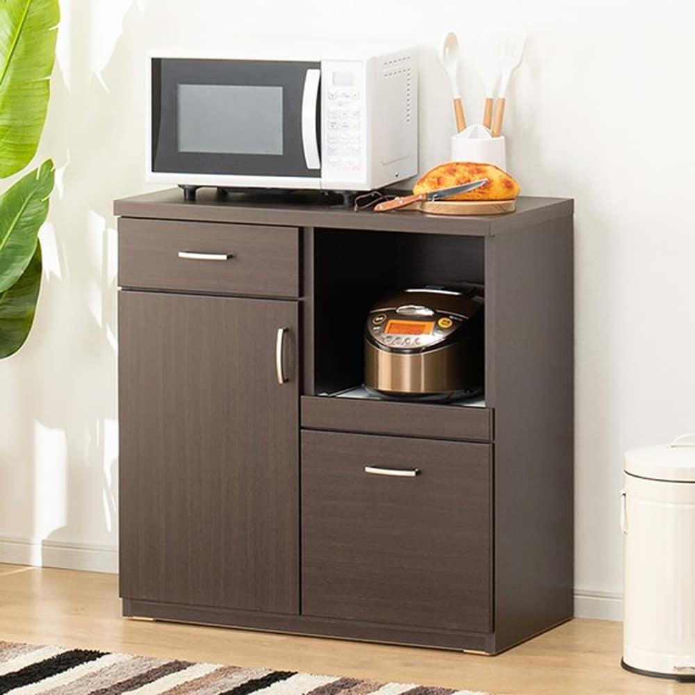 【ニトリ】 カウンター コパン 80CT−S DBR ダークブラウン:どんなお部屋にもあわせやすい。安心の耐震機能も充実。