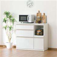 【ニトリ】 キッチンカウンター アルミナ2 100CT WH ホワイト