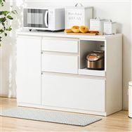 【ニトリ】 キッチンカウンター アルミナ2 120CT WH ホワイト