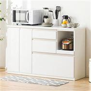 【ニトリ】 キッチンカウンター アルミナ2 140CT WH ホワイト