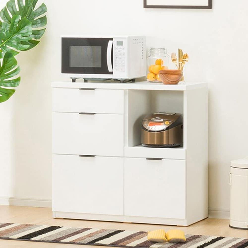 【ニトリ】 カウンター エトナ 90CT WH ホワイト:サイズ・カラーのバリエーションが豊富で、どんなお部屋にもあわせやすいデザイン。