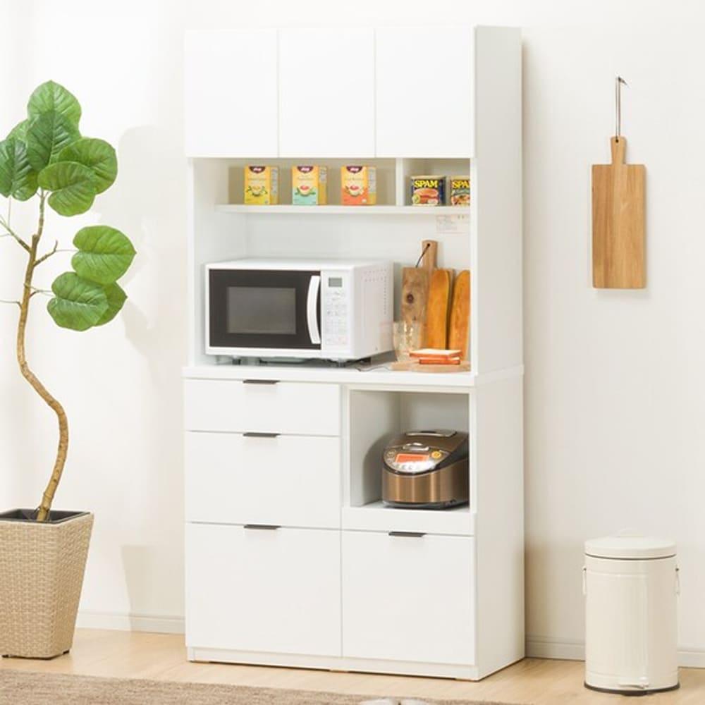 【ニトリ】 ダイニングボード キッチンボード エトナ 90KB WH ホワイト:サイズ・カラーのバリエーションが豊富で、どんなお部屋にもあわせやすいデザイン。