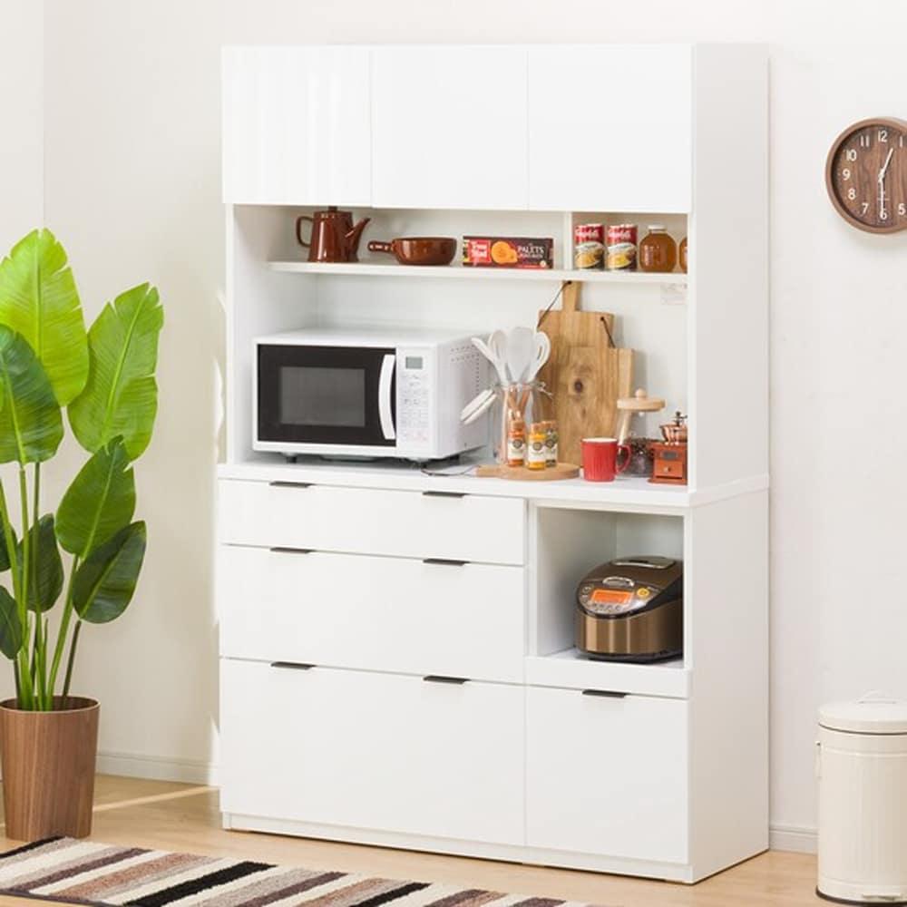 【ニトリ】 ダイニングボード キッチンボード エトナ 120KB WH ホワイト:サイズ・カラーのバリエーションが豊富で、どんなお部屋にもあわせやすいデザイン。