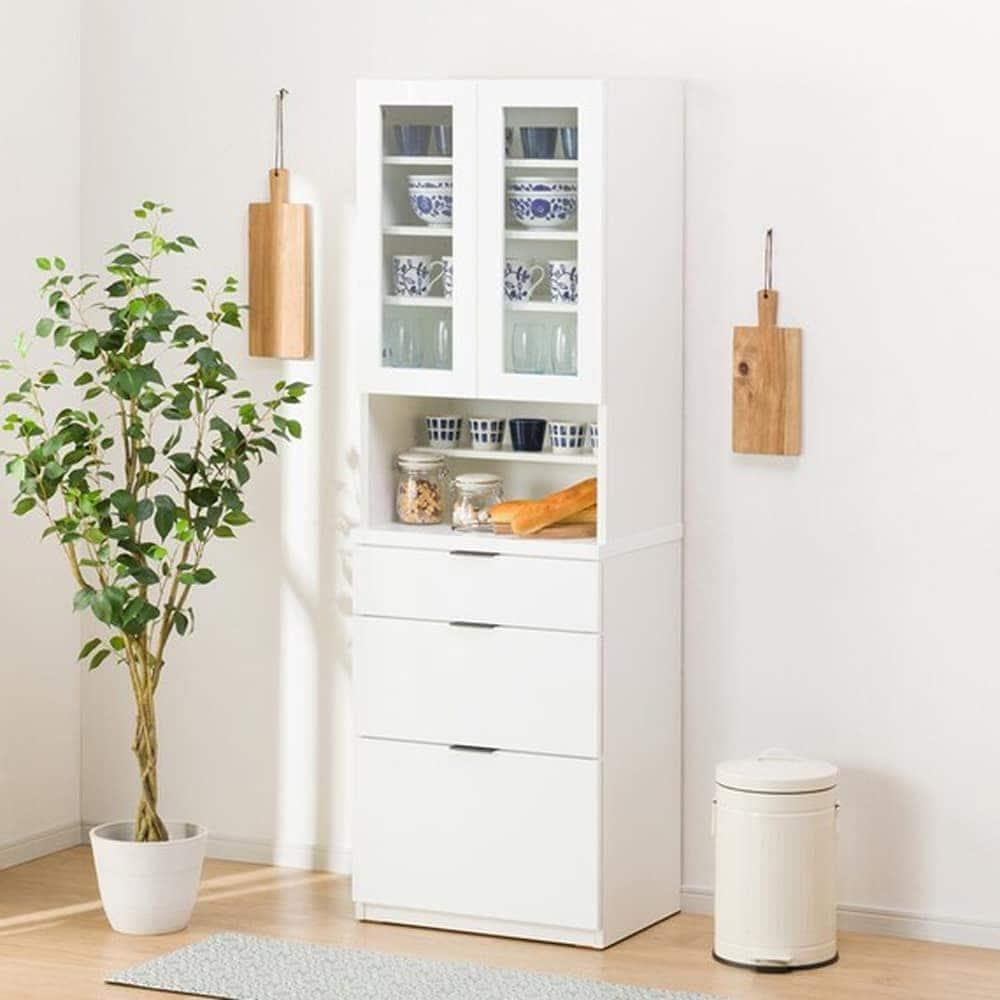 【ニトリ】 ダイニングボード エトナ 60DB WH ホワイト:サイズ・カラーのバリエーションが豊富で、どんなお部屋にもあわせやすいデザイン。