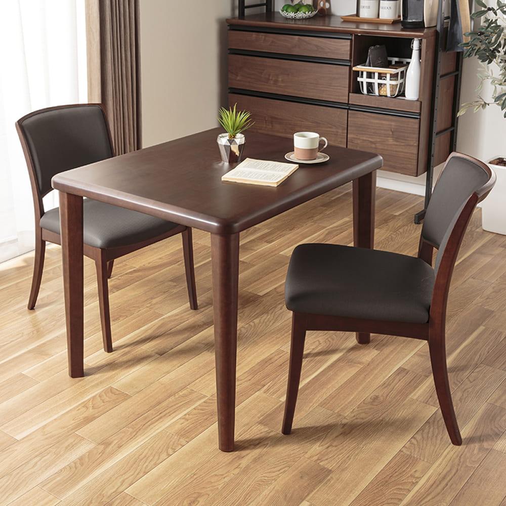 ダイニングテーブル CCM3 90−75Z 4本脚 DBN:丸みのある優しいで万が一の時も安心