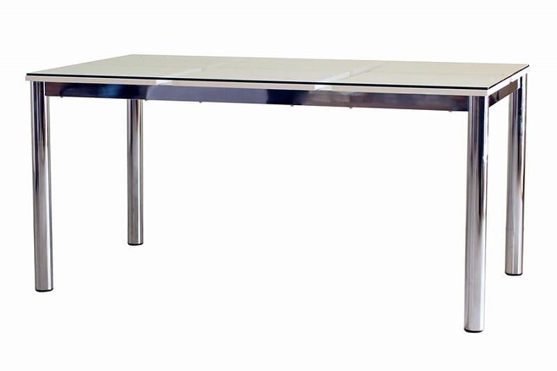 テーブル Nフレスコ 150:《ガラス越しにシャープなデザインが魅了的なモダンスタイル》