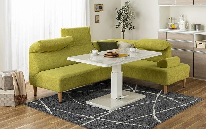 LDセット エクラ テーブル別売り(張地:E132色/脚:ナチュラル色):リビングとダイニングの一体化