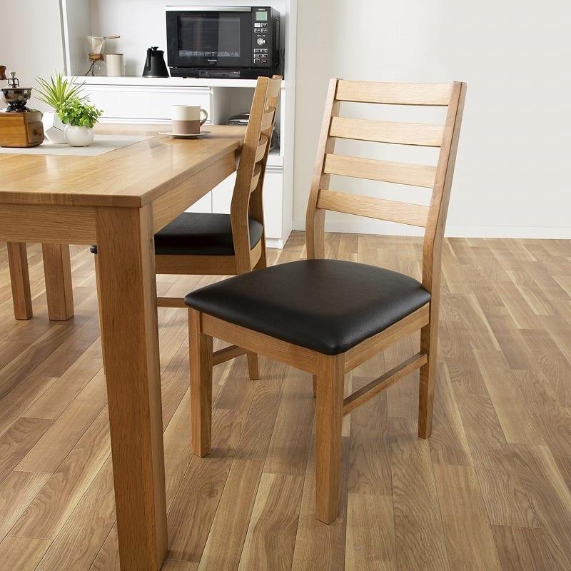 ダイニングテーブル フォーゼ�U 135オークナチュラル:座面のカラーでメリハリを♪