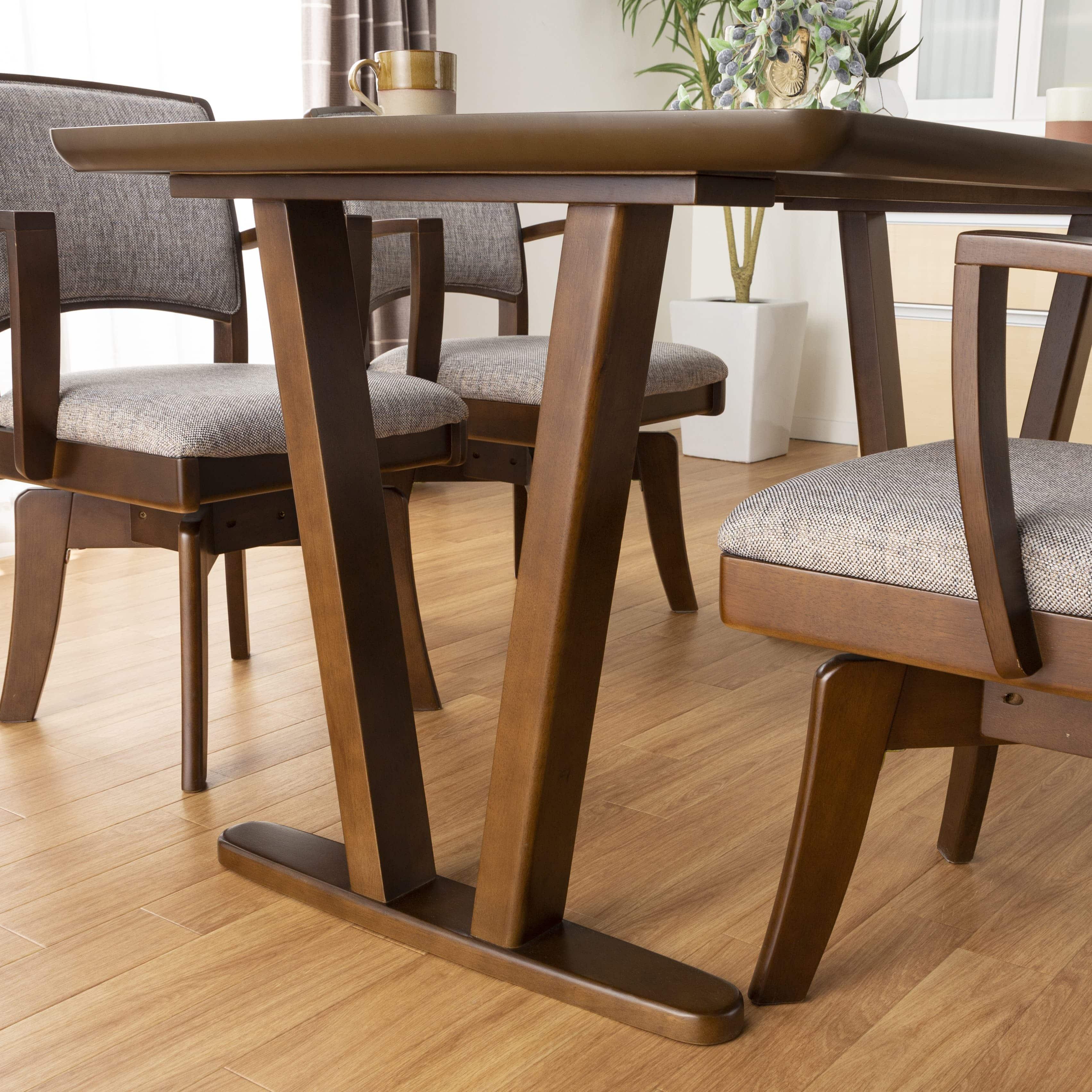 ダイニングテーブル ラクレット 165:スッキリとした2つ脚タイプ