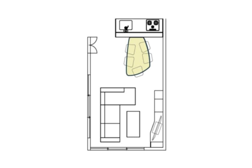 ダイニング6点セット COME HOME(ボート型/白木目天板)