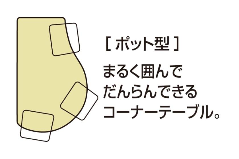 ダイニング5点セット COME HOME(ポット型/TN/張地:SLG-C)