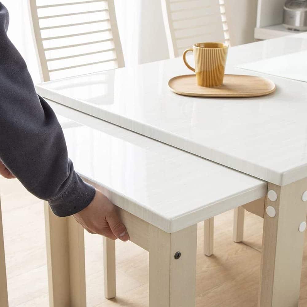 伸長式ダイニングテーブル フリー(WH):ラクラクスライド