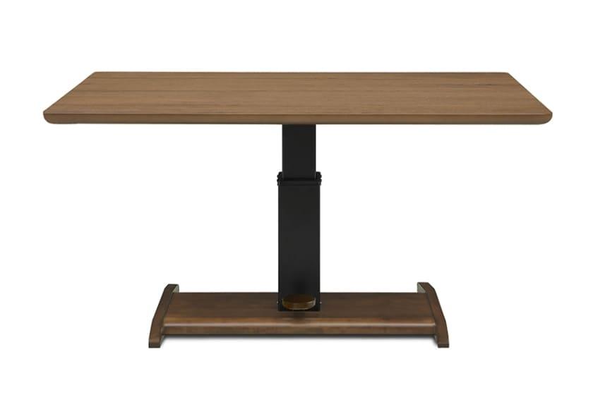 昇降式LDテーブル ウォールライフ135:使い込むほどに風合いを増すウォールナット突板を使用しています。