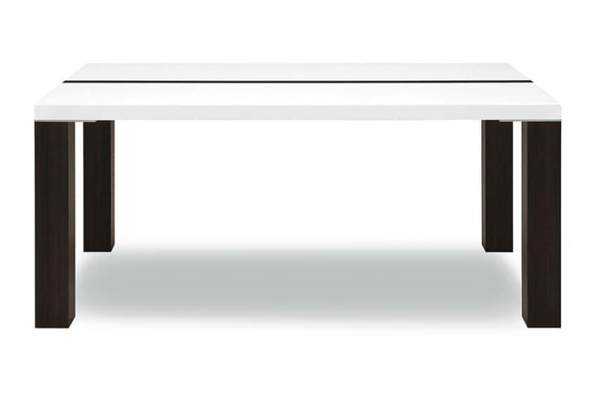 ダイニングテーブル ネバン155:◆白と黒の2 トーンカラーがアクセントのダイニングテーブル