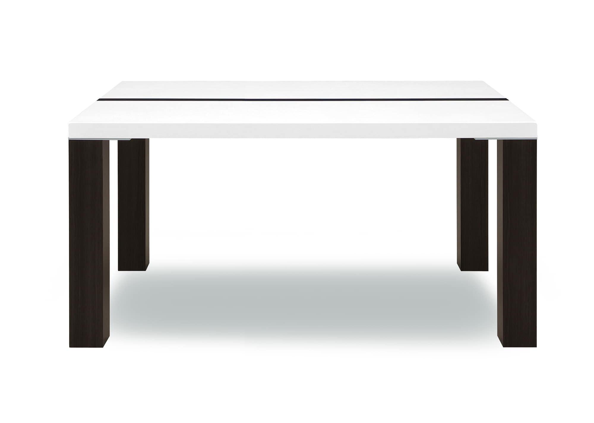 ダイニングテーブル ネバン135:◆白と黒の2 トーンカラーがアクセントのダイニングテーブル
