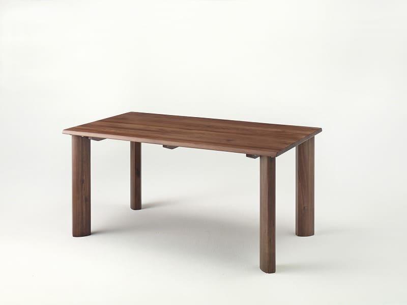 ダイニングテーブル 華蓮150 ウォールナット材 �T型脚:ダイニングテーブル