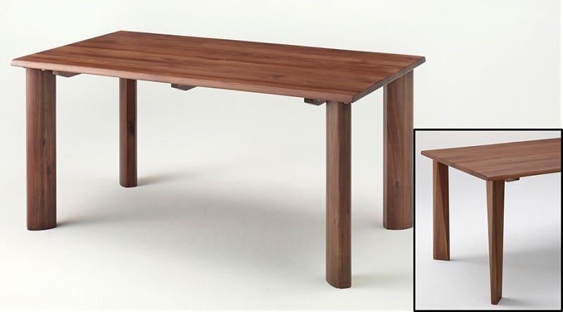 ダイニングテーブル 華蓮150 ウォールナット材 �U型脚:ダイニングテーブル※脚は右下の画像の【�U型となります】