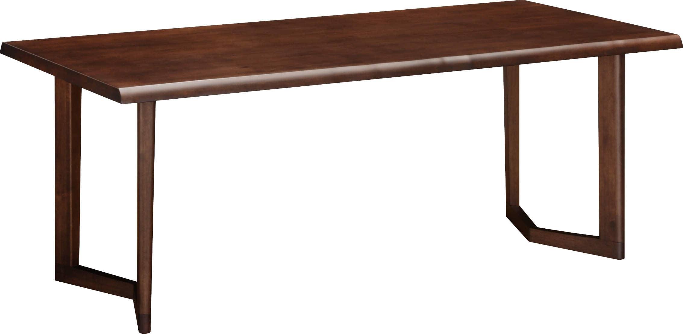 カリモク ダイニングテーブル シトラス180(2本脚) D18632NKG※ノタ面(モカブラウンP色)