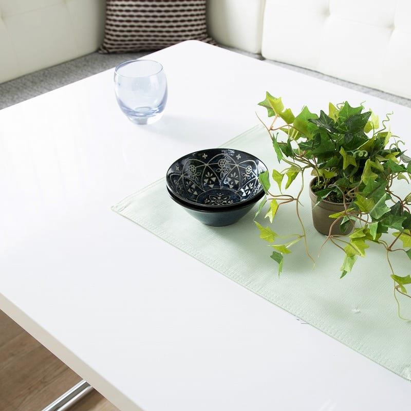 昇降式LDリフトテーブル ラミナ130:清潔感あるホワイト天板