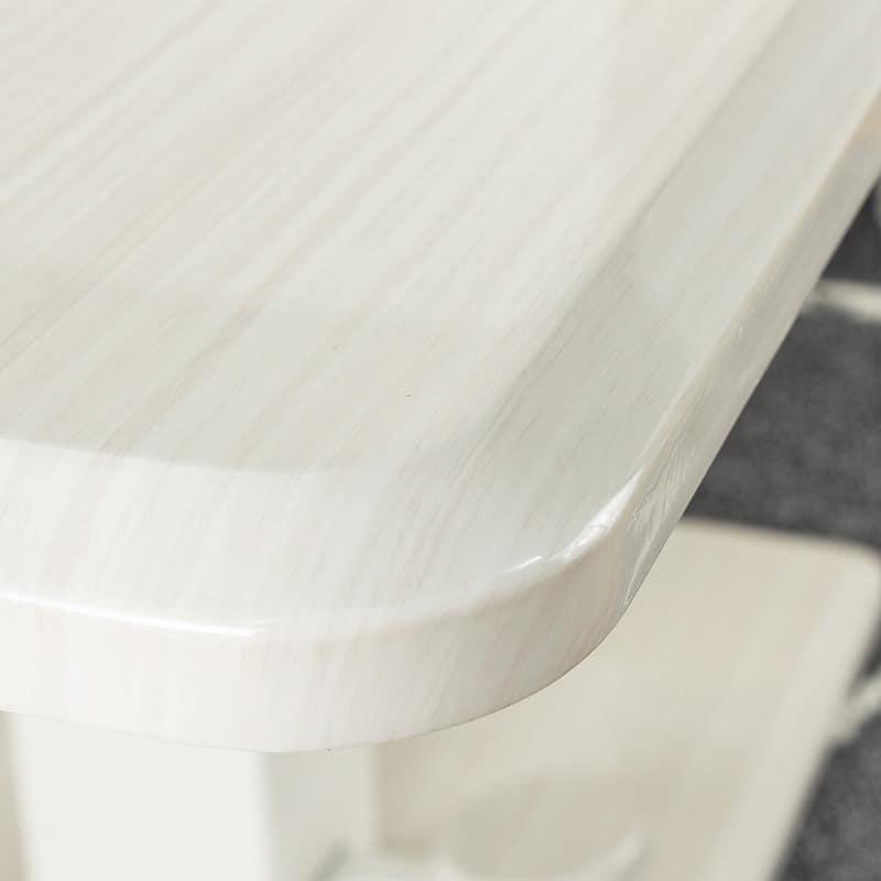 昇降式LDテーブル ノルディ135:縁が特徴的