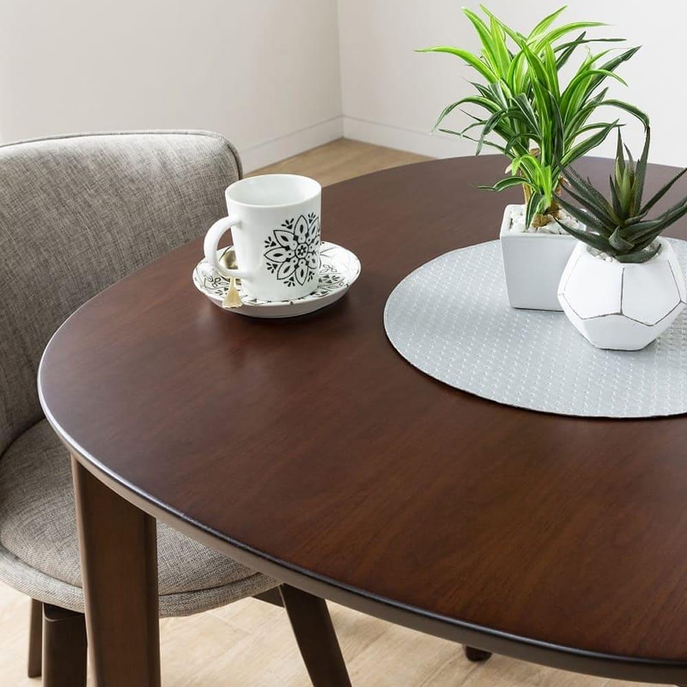 ダイニングテーブル KID'S PLAN ミネスト 80DT(DBN・DBN):天板はキズ・汚れに強いUV塗装仕上げ