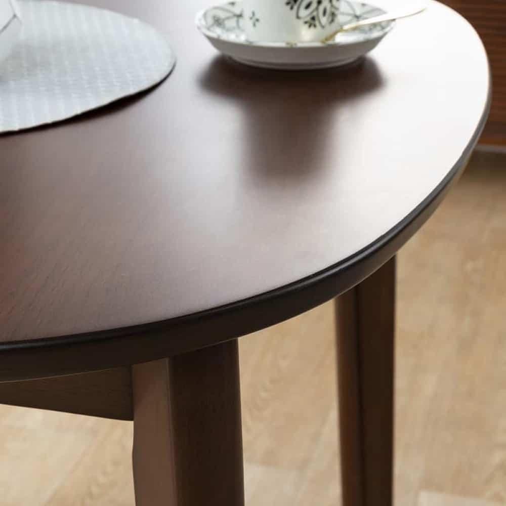 ダイニングテーブル KID'S PLAN ミネスト 80DT(DBN・DBN):丸みがあってお子様にもやさしいデザイン