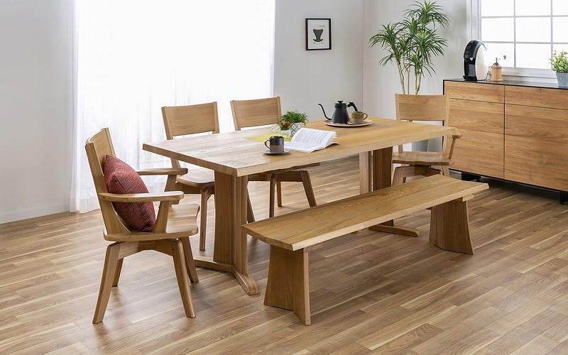 ダイニングテーブル ハーグ 150テーブル NA:お部屋に木のぬくもりを