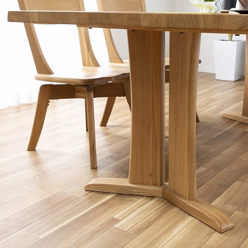 ダイニングテーブル ハーグ 150テーブル NA:安定感のある脚部