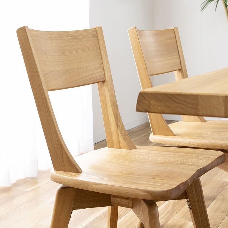 ダイニングテーブル ハーグ 150テーブル NA:ゆったり座れる広角背もたれ