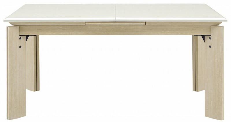 ダイニングテーブル ラティ(伸長式) WH:ダイニングテーブル