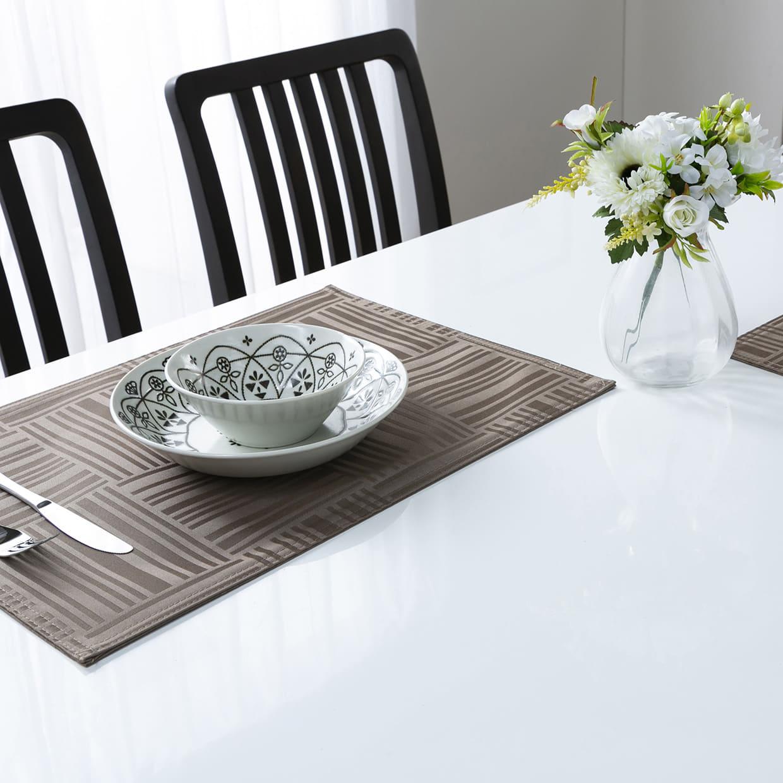 ダイニングテーブル トーレ 120EX NA突板:高級感のあるハイグロス天板仕様