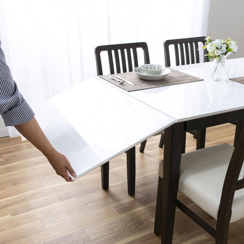 ダイニングテーブル トーレ 120EX NA突板:天板を広げるのはラクチン★