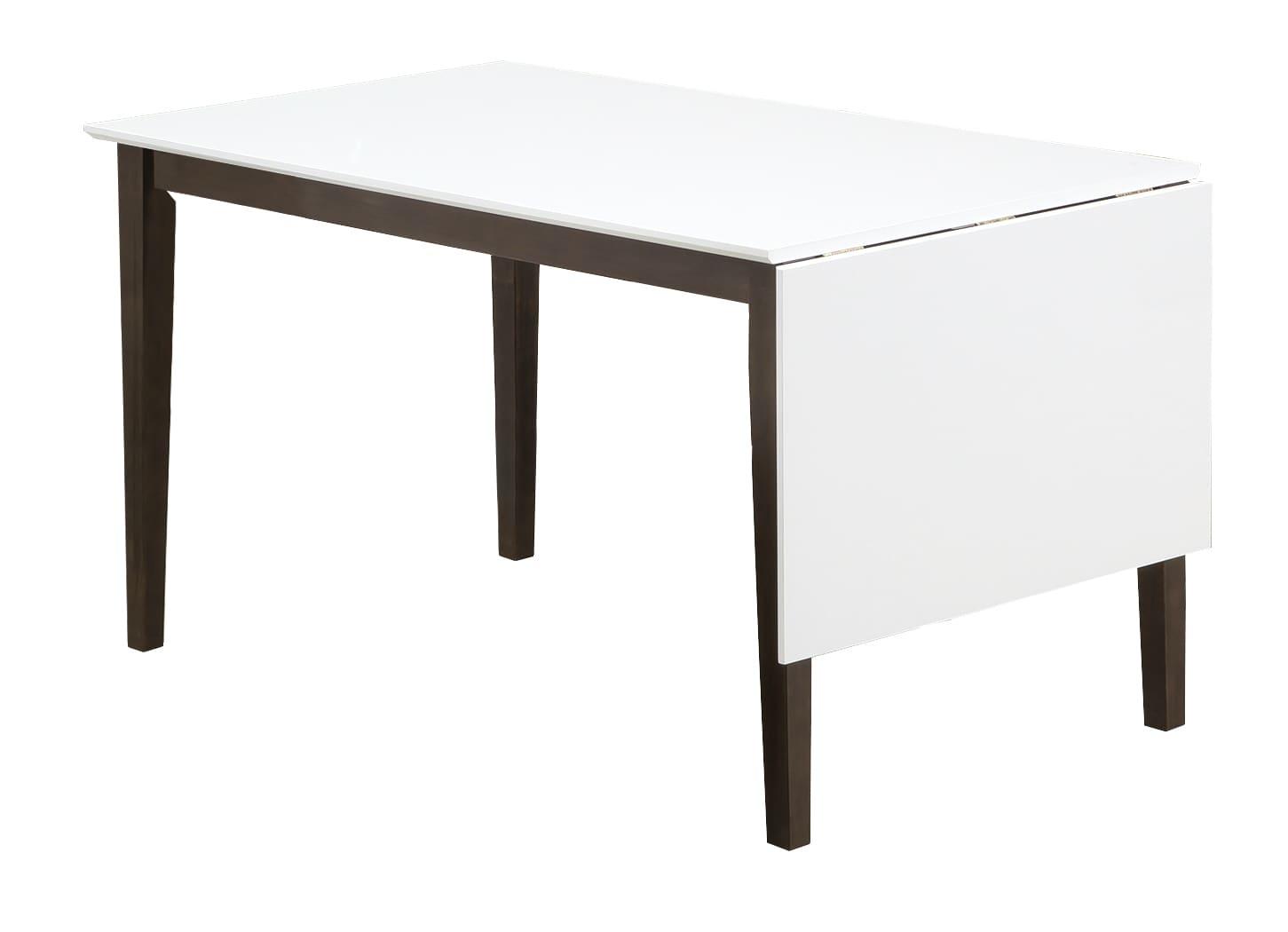 ダイニングテーブル トーレ 120EX WH天板  WH/BR:超コンパクトなダイニングセット