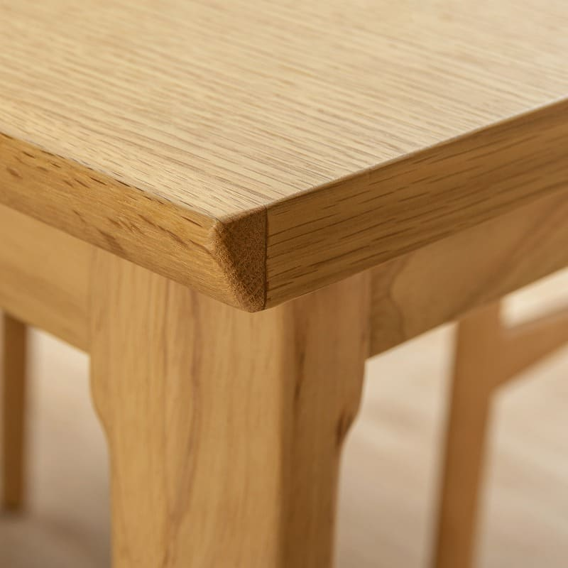ダイニングテーブル W/Oセレクト 90片バタテーブル(NR):突板