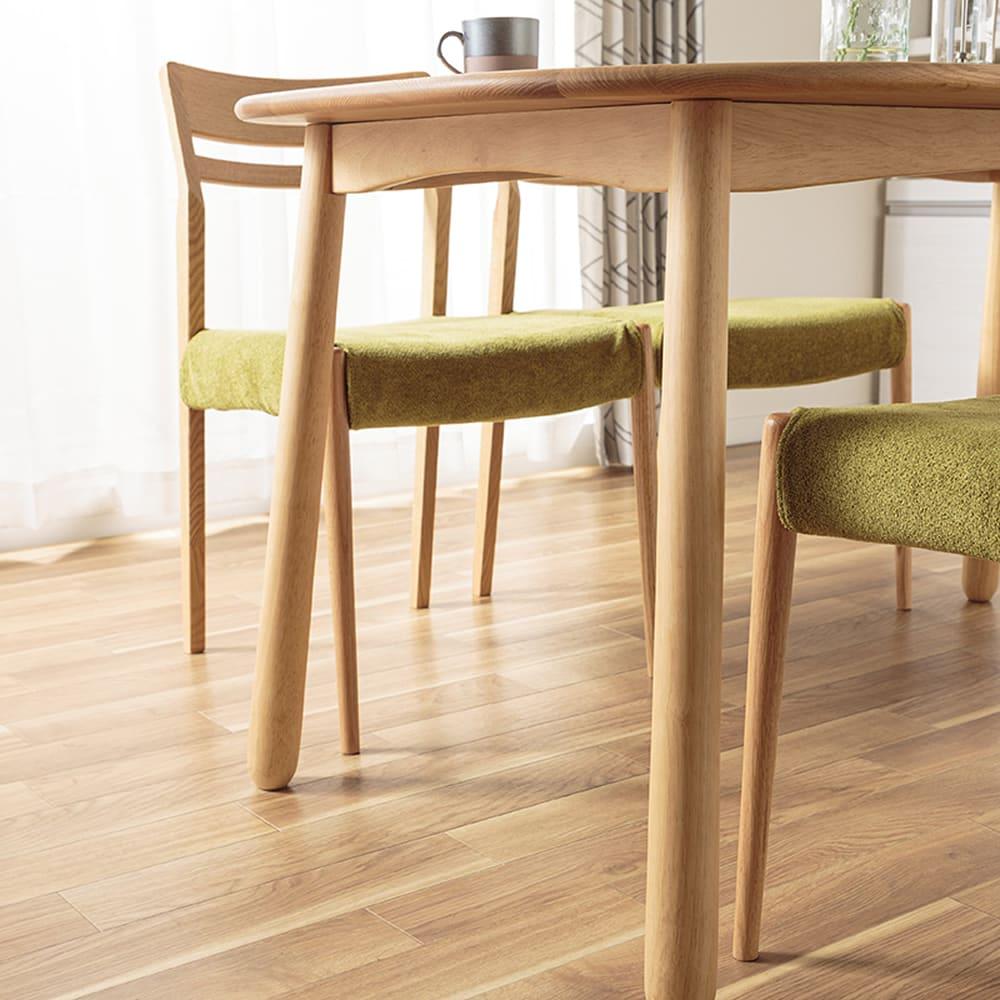 ダイニングテーブル W/Oセレクト 135楕円テーブル(NR):ウェービングテープ