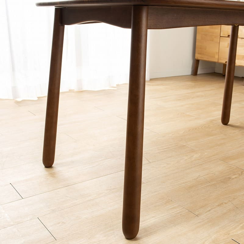 ダイニングベンチ W/Oセレクト 100ベンチ デニッシュ(NR/XBR):楕円タイプは可愛らしい脚が特徴