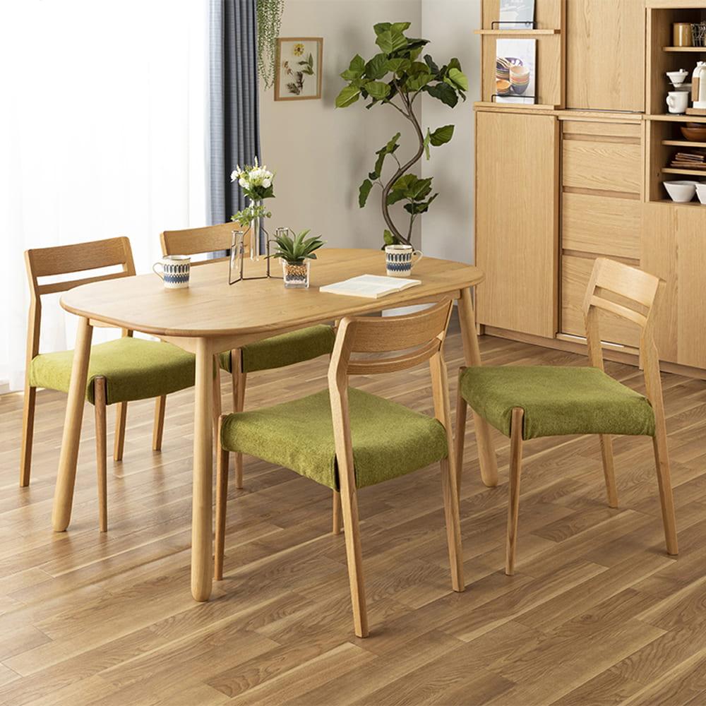 ダイニングテーブル W/Oセレクト 150楕円テーブル(NR)